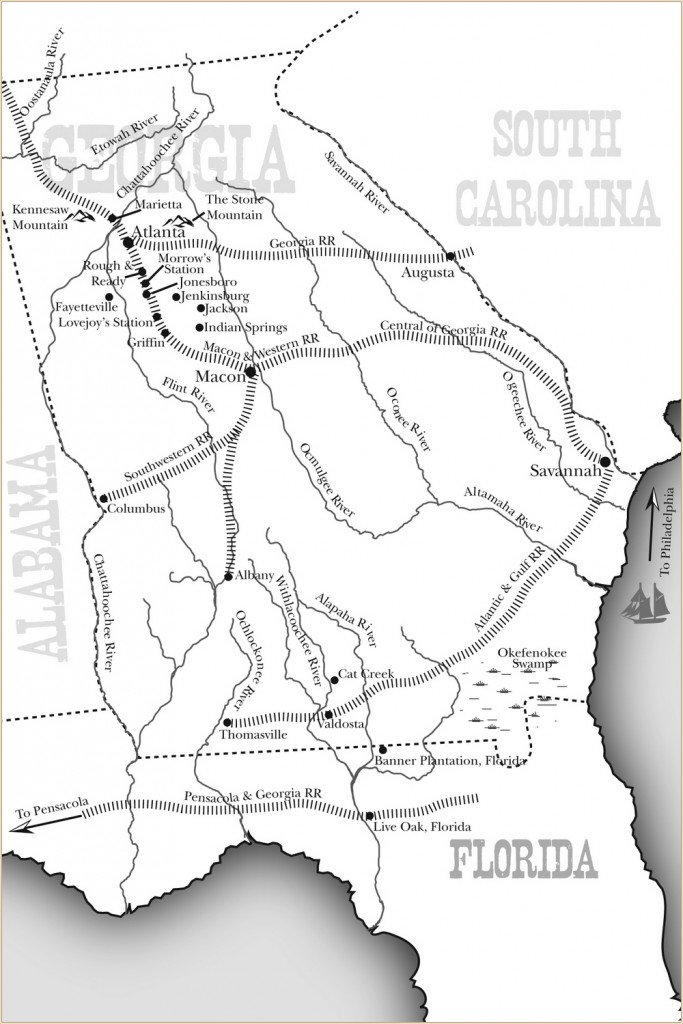 Doc Holliday Georgia 1870 Map