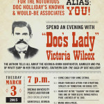 Brenau University Poster for An Evening with Doc's Lady Victoria Wilcox