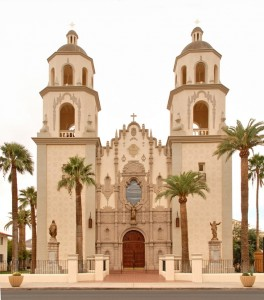 San Augustin Cathedral, Tucson, Arizona Territory