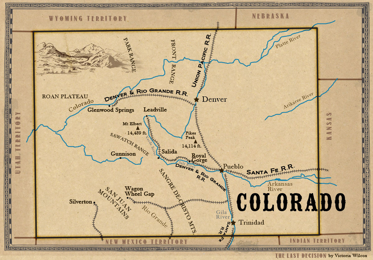 Map of colorado the last decision doc holliday