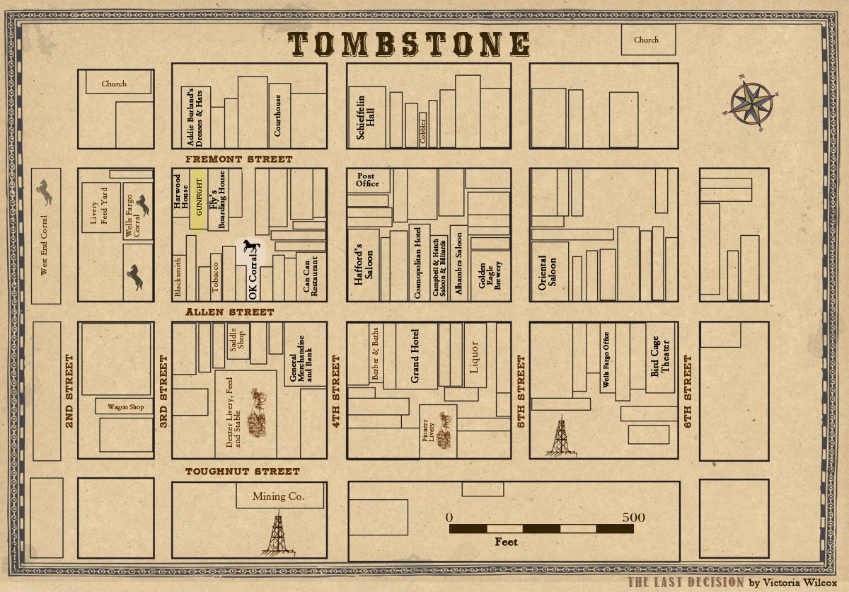 Map of Tombstone Arizona