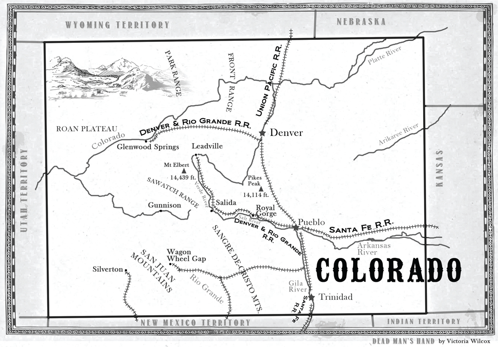 Dead Man's Hand Map of Colorado