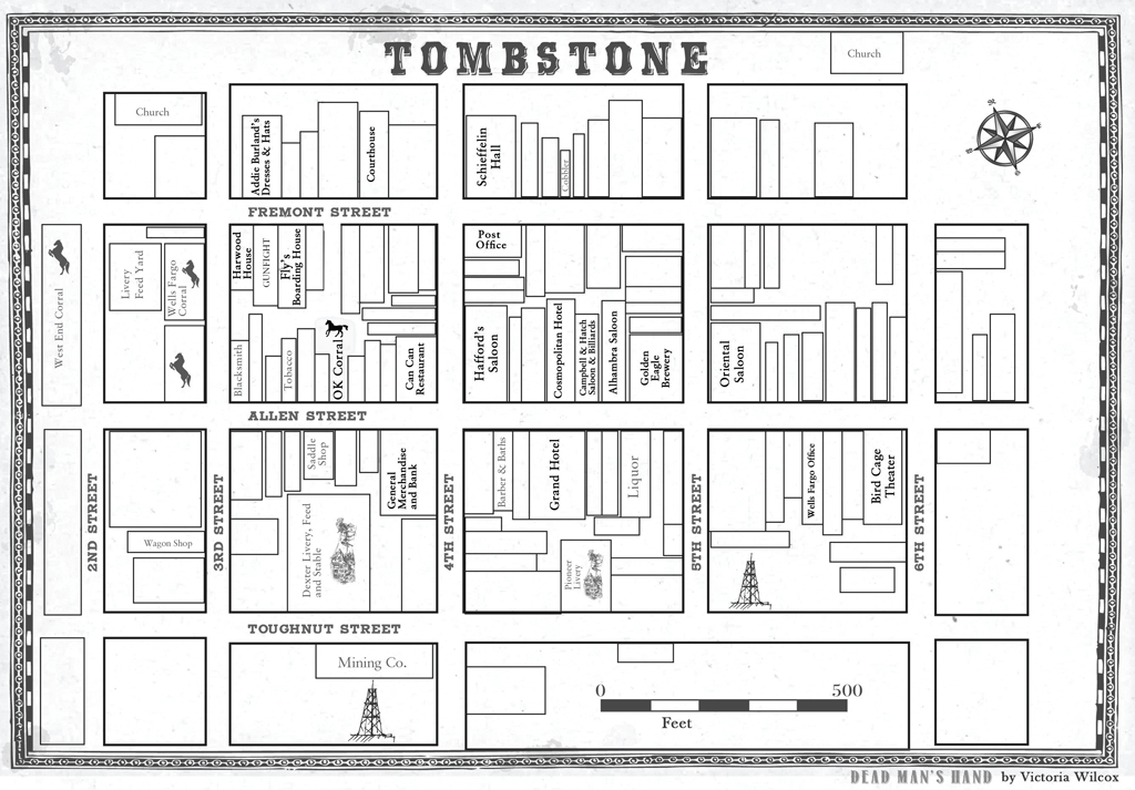Dead Man's Hand Map of Tombstone