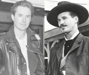 Screenwriter Kevin Jarre and Val Kilmer