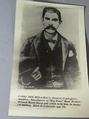1950 RPPC Postcard Reprint Photo of Doc Holliday Dentist